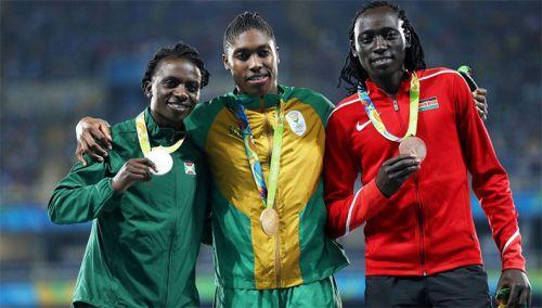 Francine Niyonsaba, Caster Semenya i Margaret Wambui