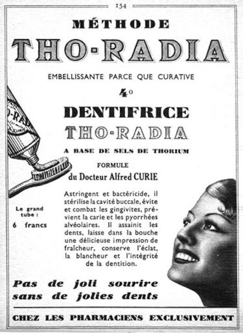 radioaktywna pasta do zębów